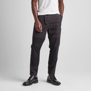 NWT $245 Slouchy Slim Military Pant in Black sz 38
